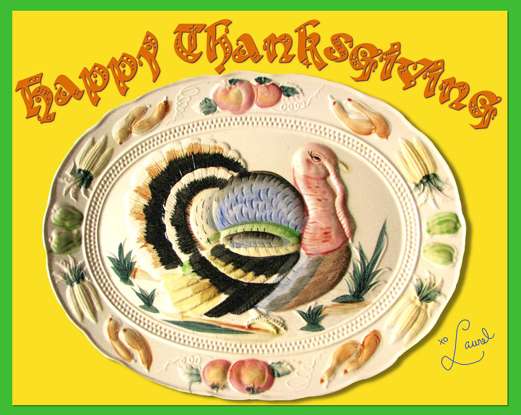 Happy Thanksgiving Plate