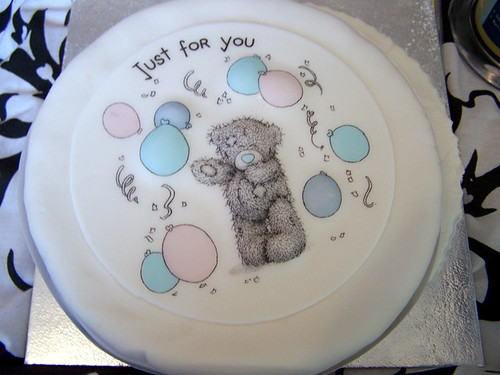 Just for you teddy bear cake