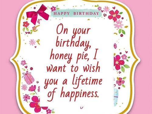 Happy Birthday Honey Pie