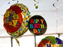 Happy Birthday Balloons and Tag