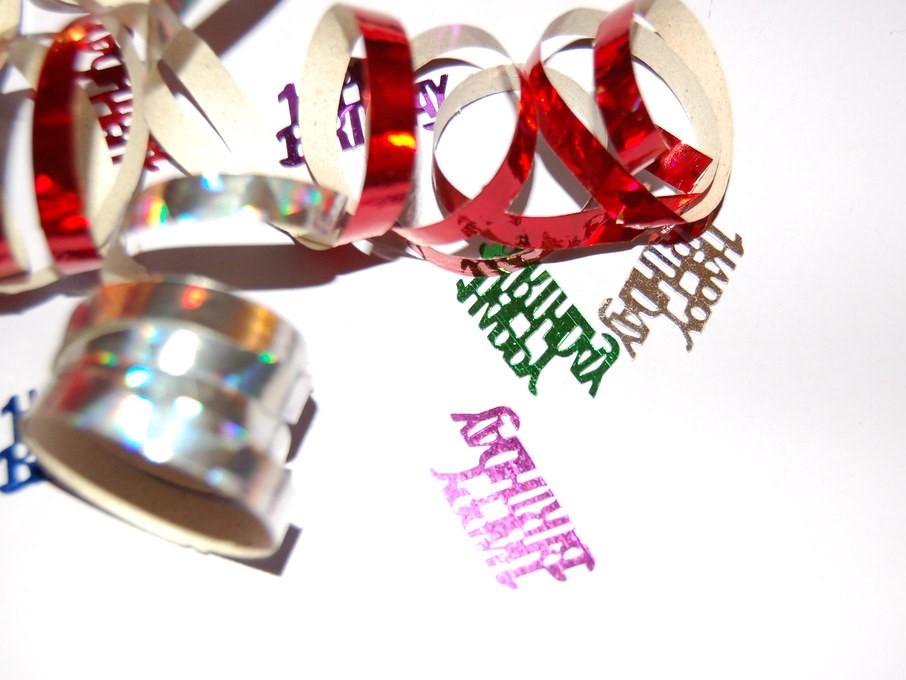 Happy Birthday Ribbons