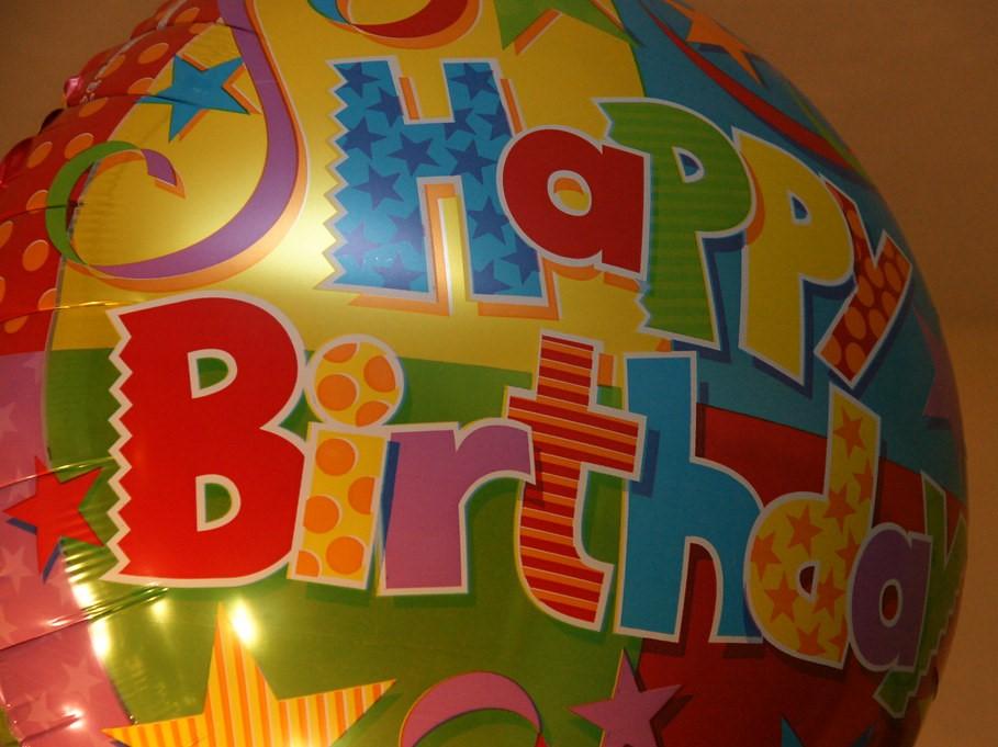Happy Birthday Colorful Balloon