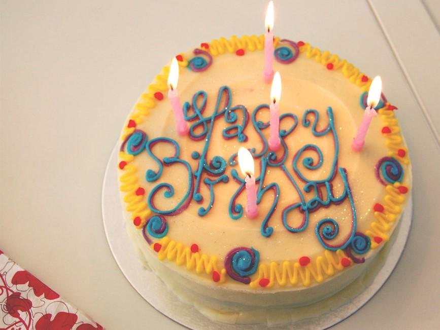 Happy Birthday Yellow Cake