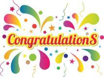 Congratulations colorful